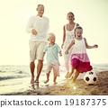 beach, enjoying, family 19187375