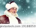 Santa Winter Seasonal New Year Snowing Concept 19188050