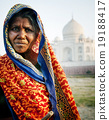 Indigenous Indian Woman And Taj Mahal Backgroud Concept 19188417