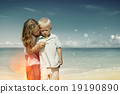Boy Girl Playful Blowing Bubble Togetherness Concept 19190890