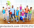 Fitness Health Gym Group Training Exercise Concept 19191252