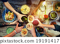 Food Table Healthy Delicious Organic Meal Concept 19191417