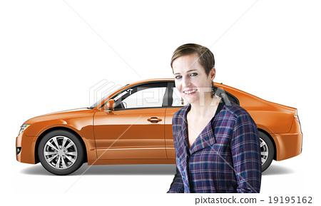 Car Vehicle Transportation 3D Illustration Concept 19195162