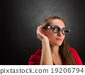 Woman is listening to 19206794