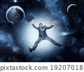 Businessman in space 19207018