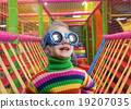 Little girl in party glasses 19207035
