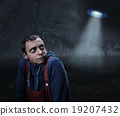Guy scared by UFO 19207432