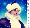 Santa Winter Seasonal New Year Snowing Concept 19209920