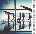 Business People Traveling Airplane Airport Concept 19210878