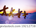 People on their way to snow boarding Concept 19212738