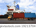 Stack of Freight Containers at the Docks 19213704