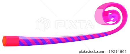 Party horn in blue and pink striped 19214665