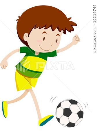 Little boy playing football 19214744