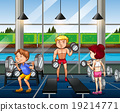 people, gym, working 19214771