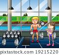 woman, people, gym 19215220