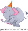 코끼리, 회색, 벡터 19215288