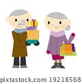 쇼핑하는 노부부 19218568