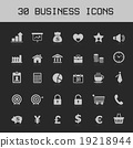Light vector business icon set 19218944