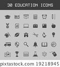 Dark vector education icon set 19218945