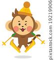 滑雪 猴子 猴 19219906