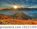 Warm sunset an alpine valley 19221309
