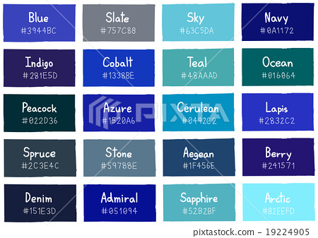 Blue Tone Color Shade Background with Code Name 19224905