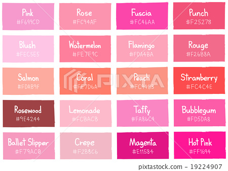 Pink Tone Color Shade Background with Code Name 19224907