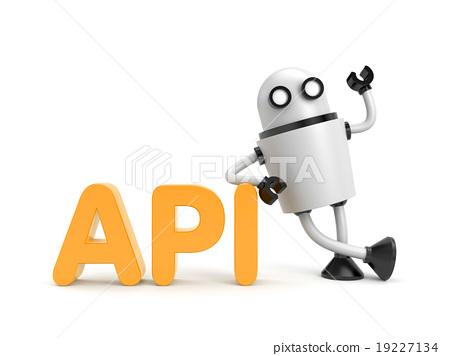 Robot with API word - Stock Illustration [19227134] - PIXTA