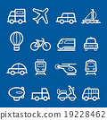 transportation symbol line icon vector 19228462