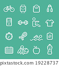 exercise symbol line icon vector n 19228737
