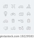 transport vector thin line symbol icon 19229583