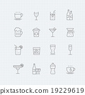 Beverage vector thin line symbol icon 19229619