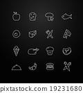 Food vector thin line symbol icon 19231680