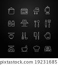 kitchen vector thin line symbol icon 19231685