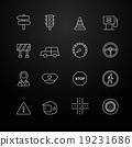 traffic vector thin line symbol icon 19231686