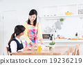 母子 早餐 進餐 19236219