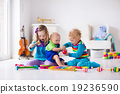 Music for kids, children with instruments 19236590