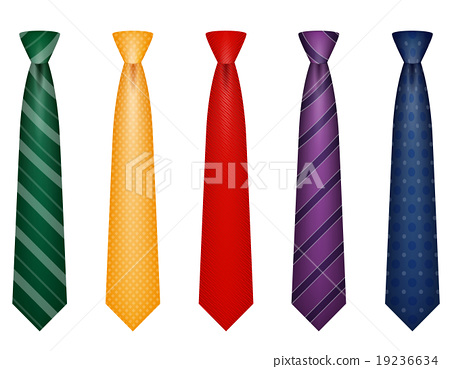 set icons colors tie for men a suit vector 19236634