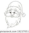 Santa's head coloring page. 19237051