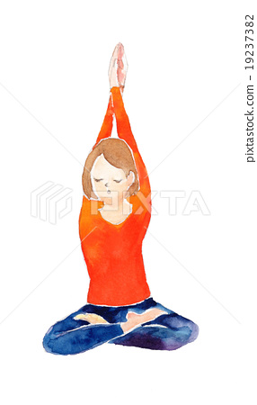 Yoga deep breath 19237382