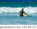 Surfer On The Beach In Summer 19240152