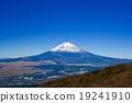 富士山 藍天 積雪 19241910