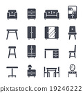 Furniture Solid Vector Icon 19246222
