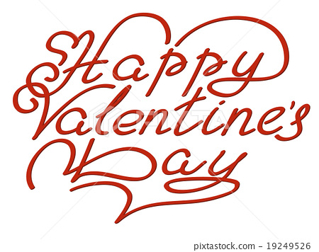 Happy valentines day hand lettering 19249526