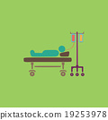 Illustration of Life icons, hospitalized 19253978
