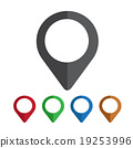 mapping pins icon 19253996