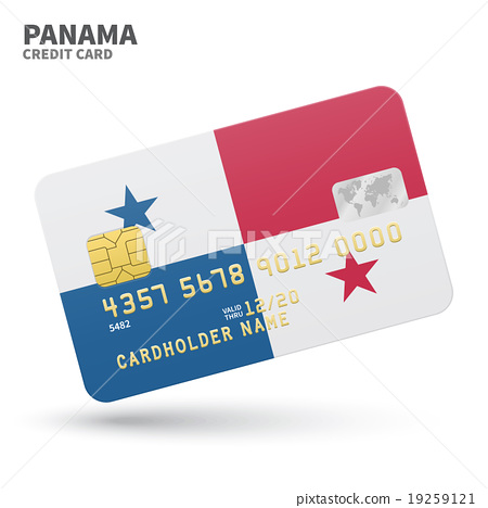 With 19259121 Flag Illustration Stock Bank Panama - Credit Pixta Background For Card