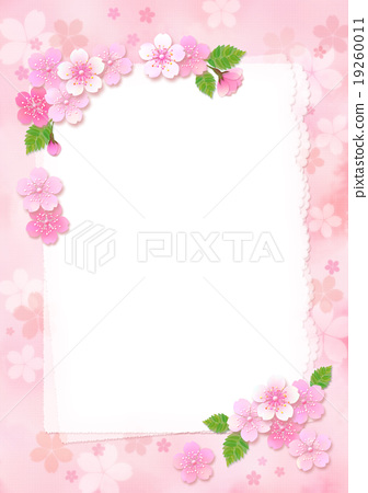 Sakura's card _ white paper letter_ with other colors 19260011