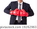 Businessman with red boxing gloves 19262963