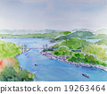onomichi, shimanami sea route, aquarelle 19263464